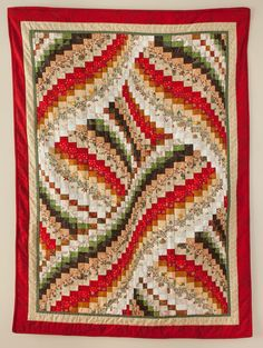 Art Bargello Christmas Quilt Abstract by TheCheerfulChickadee, $650.00