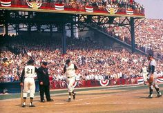 Forbes Field, 1960 World Series Pittsburgh Pirates Baseball, Baseball Park, Pittsburgh Sports, Baseball Players, Baseball Uniforms, Boston Sports, 1960 World Series, World Series Game 7, Baseball Training