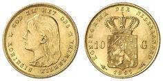 Netherlands, Wilhelmina, 10 Guilder 1897, extremly fine    Dealer  Auction house Ulrich Felzmann    Auction  Minimum Bid:  200.00EUR