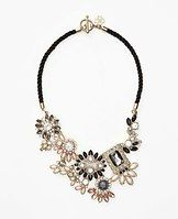 """Chandelier Cord Statement Necklace - Make a dazzling statement with this dare-to-wear necklace, boasting a spectacular design of opulent stones that sparkle to perfection. Toggle clasp. 20"""" length."""
