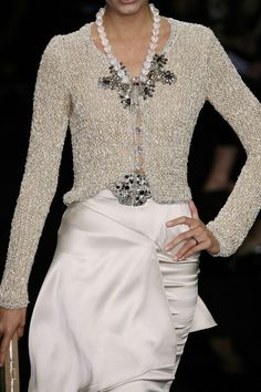 love Armani...would wear without the big necklace and jewels on the waist