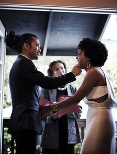 #interracial #wedding #natural