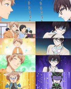 Kou Sakuragi x x Nifuji Naoya / Wotaku ni Koi wa Muzukashii Cute Anime Boy, Anime Love, Anime Guys, Otaku Anime, Manga Anime, Anime Art, Slice Of Life, Sanrio Danshi, Fairy Tail Pictures