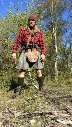 Kilt for bushcraft use