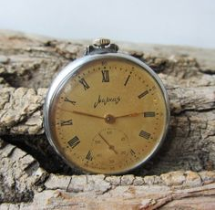 Russian Vintage pocket watch MolniaMen's pocket by TedDiscovery, $47.00