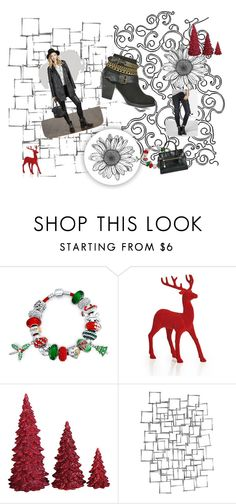 """""""Santa Baby Pinterest Challenge"""" by wild3cat on Polyvore featuring Paul Brodie, Bling Jewelry, Dot & Bo, Arteriors and fasionistas"""