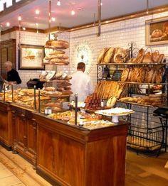 Markets of Lyon - Lyon, Rhone-Alpes, France Bakery Shop Design, Cafe Design, Restaurant Design, Food Design, Bread Display, Bakery Display, Bakery Interior, French Bakery, Lyon France