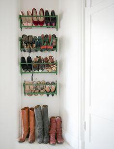 Colorful shoe rack