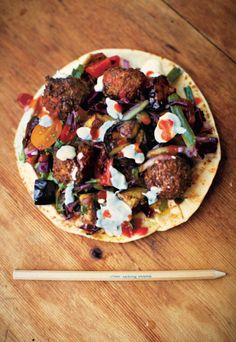 This recipe for falafel, yoghurt, aubergine and red cabbage salad wraps from The Little Book of Lunch will help you create the ultimate lunchtime treat. It's a flavoursome, convenient dish that can be prepared the night before, easily assembled at work and will keep you going the whole day through. The only problem we have is resisting until lunch!