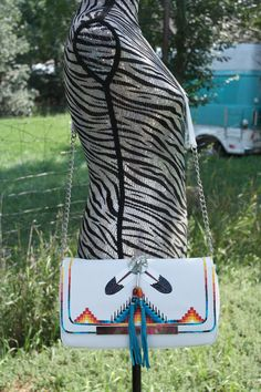 Rez Hoofz purse or Clutch painted 2 in one by REZHOOFZ on Etsy, $75.95