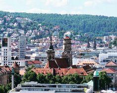 The #view over #Stuttgart towards #Stiftskirche from the #Hauptbahnhof #tower. #urban #city #landscape #street #buildings #architecture #solotravel #travel #tourism #tourist #leisure #life #explore #adventure #seetheworld #germany #IgersStuttgart #IgersGermany #Deutschland #DeutscheBahn #history #religion