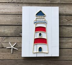 A personal favorite from my Etsy shop https://www.etsy.com/listing/527251696/handmade-lighthouse-with-rope-beach