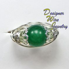 Retails for $39.99 Your Price is Only 19.99 Regardless of if it's just that one special #ring, or maybe a treasure trove of our Semi-Precious Gemstone #Rings your Artisan Crafted Ring, created just for you, will always be one of a kind. DWJ0163 Genuine Green Jade Gemstone Wire Wrap Ring - All Sizes