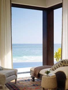 Chaise and ocean view