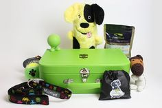 Puppy Hamper, a suitcase full of doggie goodies perfect to gift to a new dog owner (or to yourself!).