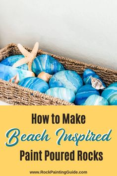 Do you love the coastal style? Try these beach inspired paint poured rocks to give your home decor a beachy vibe. Learn different paint pouring techniques step by step guide, top 10 tips and over 21 of our favorite coastal theme home DIY decor ideas! Rock Painting Ideas Easy, Rock Painting Designs, Beach Room, Beach Art, Coastal Style, Coastal Decor, Coastal Cottage, Coastal Homes, Coastal Living