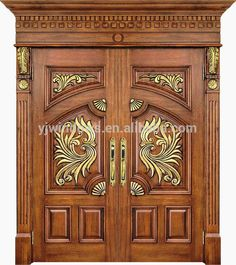 66 Ideas main door carving design entrance for 2019 Wooden Double Doors, Wooden Front Door Design, Main Entrance Door Design, Modern Wooden Doors, Double Door Design, Home Door Design, Pooja Room Door Design, Door Gate Design, Door Design Interior