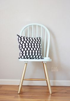 Office Space Reveal: DIY Pillow & Office Chair Makeover #softside » Little Inspiration