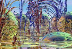 "Bryce, Series ""Otherworld"", 1999/2000 Digital Art, Fantasy, Painting, Imagination, Paintings, Draw, Fantasia, Drawings"