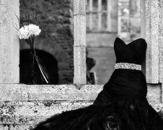 Hauntingly Beautiful Black Wedding Dress