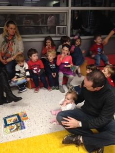 Hanukkah party 2013. Story time. 17 families gathered together with J Connection, Montclair Area at the Geyer Family YMCA on Sunday November 17th  to celebrate Hanukkah!