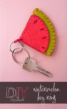 Felt Watermelon Key Ring by Lily Allsorts. A lovely gift or stocking filler to be made in an hour!
