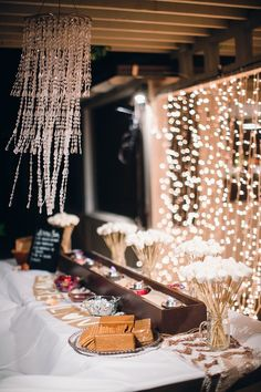 do it yourself (DIY) wedding detail - s'mores bar