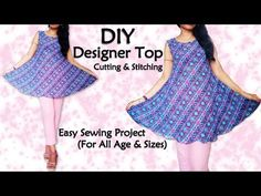 Diy Designer Top Cutting & Stitching, Sewing for Beginners. Hope you enjoy watching the video! ******************************************************************* Links Mentioned in the video Our Second Channel :: . Easy Sewing Projects, Sewing Hacks, Sewing Clothes, Diy Clothes, Divided Skirt, Tunic Designs, Sewing For Beginners, Sewing Stitches, Learn To Sew