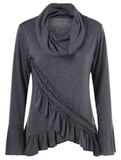 Tulip Hem Braid Ruffled T-Shirt - Pinned for style, not color.