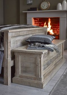 Austen Blanket Box | Ideal for hiding away spare cushions, bedding and towels, the Austen Blanket box is a practical storage solution filled with rustic charm.