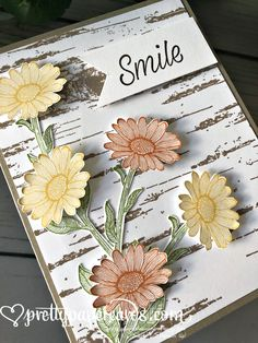 Stampin' Up! Daisy Lane Card - Prettypapercards - stampinup