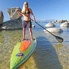 Stand up paddle boarding at Lake Tahoe.