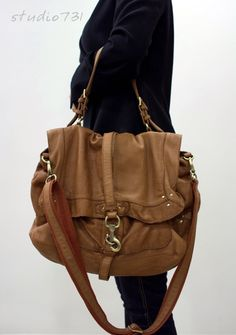 Reserved Listing Very Supple Leather Messenger Bag Tan Brown