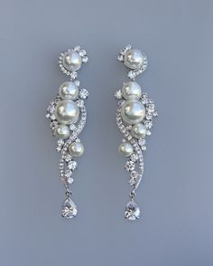 Tilly earrings are the most beautiful, flattering design perfect for most face shapes and will suit any style wedding dress from modern vintage