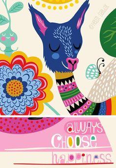 llama happy . . . - orange you lucky!