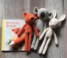 the fox, the koala and the rabbit  three @kessedjian patterns handmade by me #MyCrochetAnimals