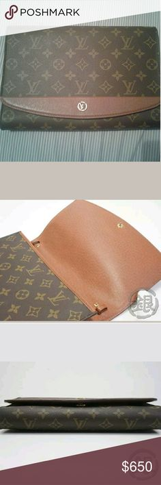 Authentic louis vuitton monogram bordeaux bag This bag is so classy and also sexy at the same time. Its used but in excellent shape. Its a great look for a night out. Louis Vuitton Bags Clutches & Wristlets