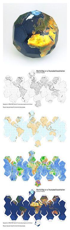 10 versions of the Earth Globe #DIY #Printable