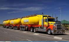 KW T800 and a 3 trailer tank road train.....