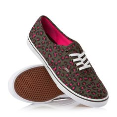 #Vans Shoes - Vans Authentic Lo Pro Shoes - Gray/Neon Pink