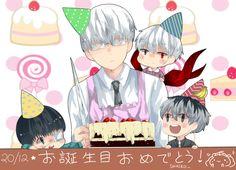 HAPPY BIRTHDAY KANEKI AND ARIMA!! by HarunaXu on DeviantArt