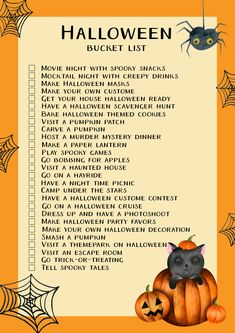 27 fun Halloween ideas for families + free printables - Free printable Halloween bucket list Halloween Masks Kids, Halloween Activities For Toddlers, Diy Halloween Treats, Halloween Buckets, Halloween Quotes, Halloween Movies, Halloween Games, Halloween Season, Family Halloween