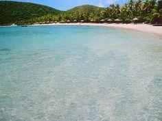 Crystal clear! Little Dix Bay, Virgin Gorda in the British Virgin Islands.