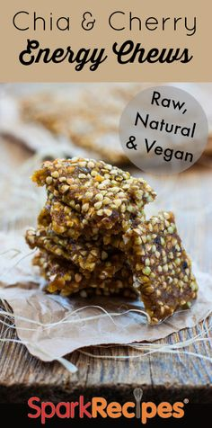 Chia and Fig Energy Chews Recipe via @SparkPeople