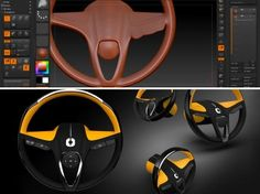 Steering Wheel concept ideation in ZBrush....