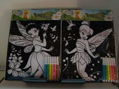 Disney Fairies Velvet Art Poster Includes Markers . $4.74. One Package. Includes Six Markers. Varied Disney Fairies. Velvet Art Post Set. Disney Fairies. Disney Fairies Velvet Art Poster Board Set with 6 Markers. Varied Fairies. One Package.