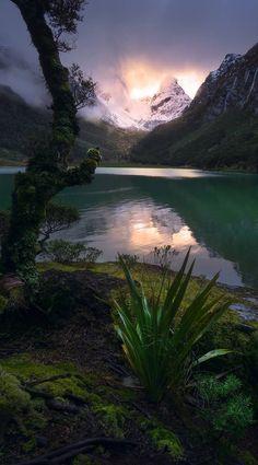 Lake Mackenzie, Fiordland National Park, New Zealand