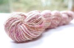 beautiful lichen dyed handspun yarn, piper dalton, etsy