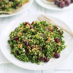 Chopped Kale & Quinoa Salad #vegan #glutenfree #recipe F