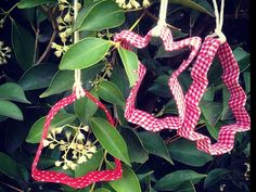 Idea: Fabric Tape Covered Cookie Cutter Ornament